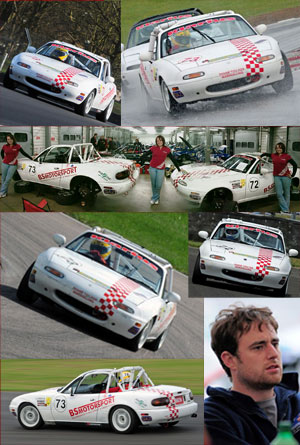Compilation of Images showing Ben racing